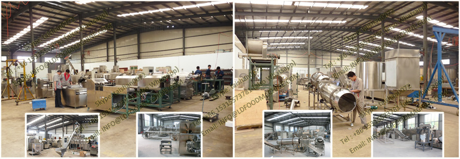 Stainless Steel Fried Wheat Flour Chips Extruding & Frying Production Line