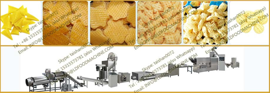automatic bugles 3d pellet snack machinery/3d compound extrusion food process line