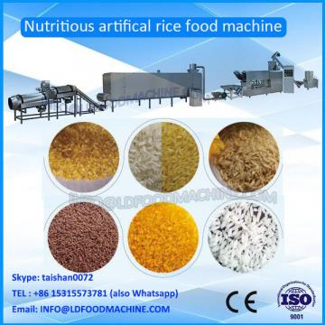 Fully cooked nutritional extruded rice make