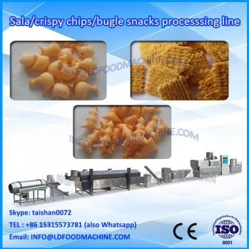 Automatic Corn Bugle Snacks Production Line Fried Wheat Flour Chips machinery