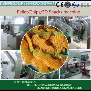 Twice extrusion fried flour 3D snacks pellet make machinery