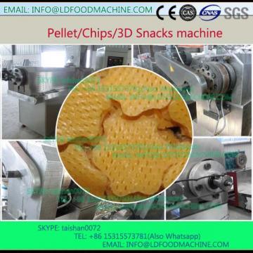 single screw extruder fried 3D pellet snacks food extruder