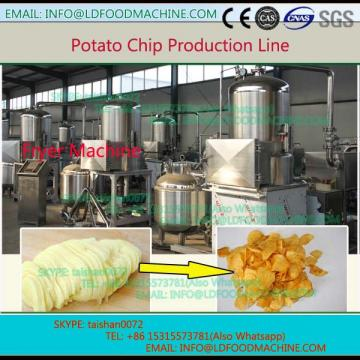 High efficient 250kg per hour fresh potato chips make machinery