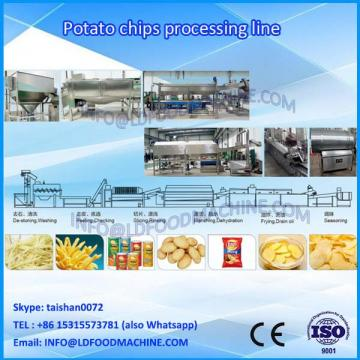 Small Capacity 100-250kg/h Automatic Fried Potato Chips Product Line