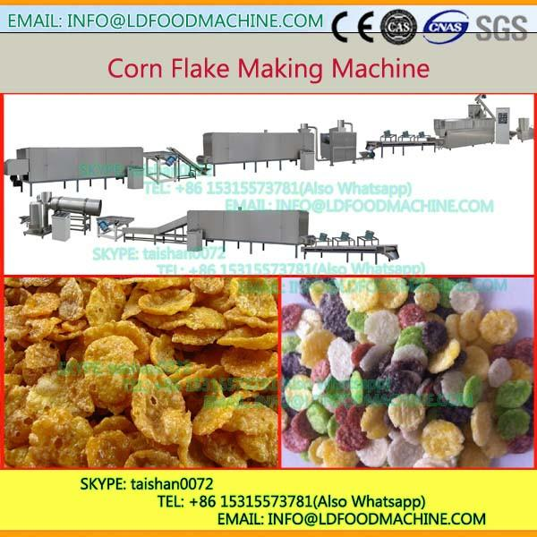 Toasted extrusion breakfast cereals corn flakes make machinery #1 image