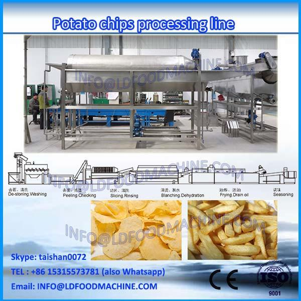 hot sale 150kg/h stainless steel fully automatic potato chips french fries production line #1 image
