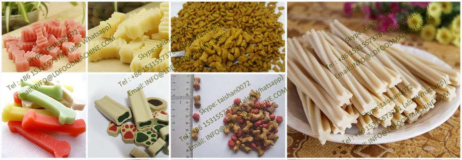 Long performance Enerable saving automatic dried dog food machinery