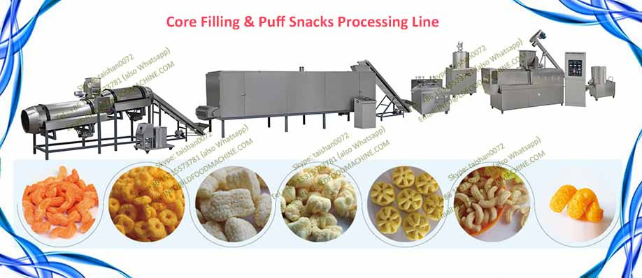 Industrial crisp corn flour snack extruder machinery
