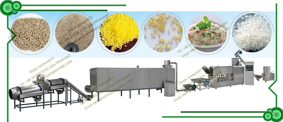 high quality artificial stainless steel instant rice machinery