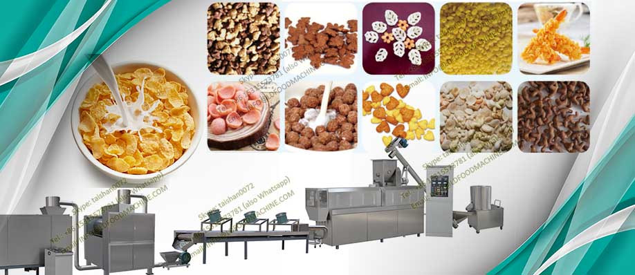 Stainless Steel Breakfast Cereal  Maize Flour Corn Flakes Production Line