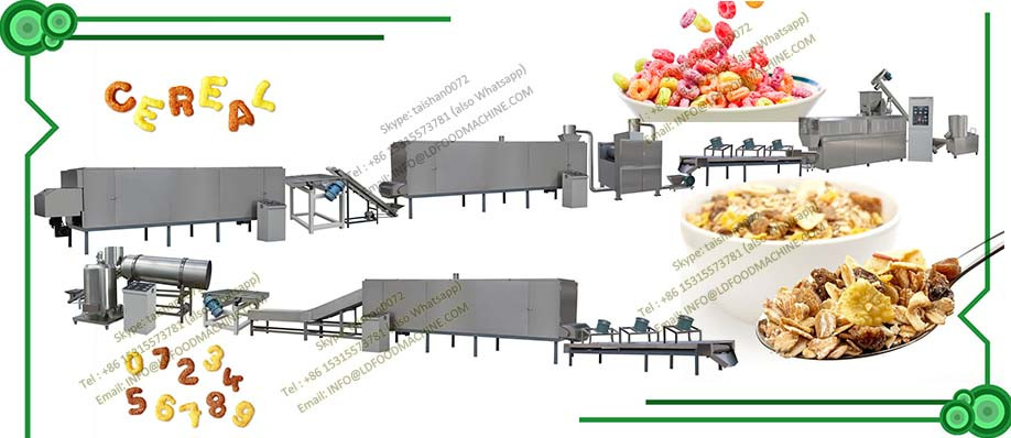 Automatic Extrusion Breakfast Cereal Corn Flakes Processing Line Equipment Manufactures