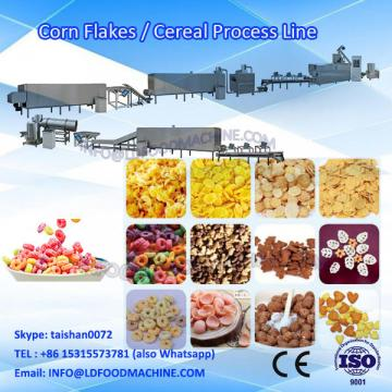 LD double screw extruding cereal snacks kellogg's corn flakes flake production machinery