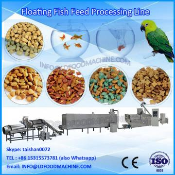 Puffed floating & sinLD fish feed machinery with double screw extruder