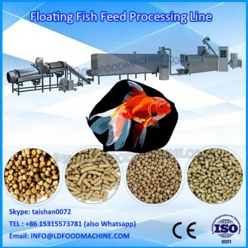 Inflatable fish feed processing line