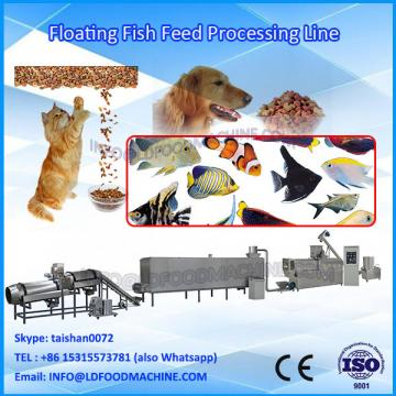 Showing fish feed processing machinery