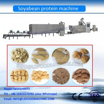 textured soya protein machinery recreated meat from soya flakes