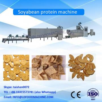 Man made meat of isolated soybean protein make machinery