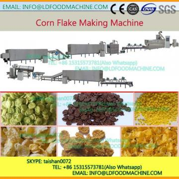 Automatique Sweet Corn Rice Chips Breakfast Cereals Extruder make machinery