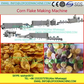 High quality low power consumption puff corn flakes snacks producing