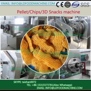3D pellet corn starch pellet snacks food extrusion production line