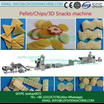 crisp Extruded Fry Wheat Corn Flour Pellet 3D Snacks machinery