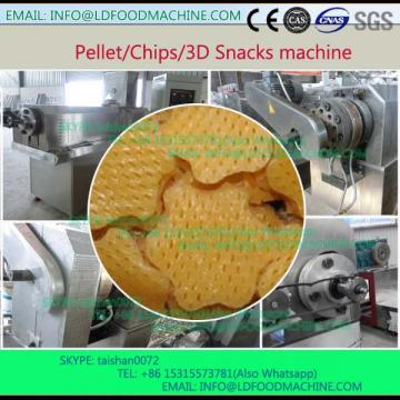 Extruded pellet frying food process line