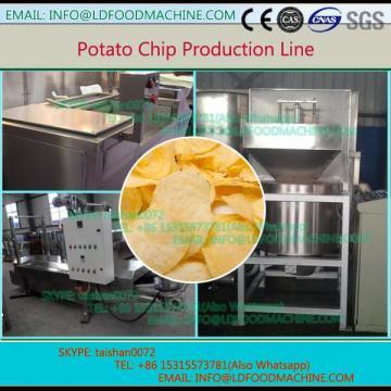 China 250kg per hour fresh potato chips make machinery