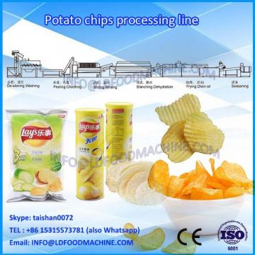 Fried small semi-automatic and fully automated potato chips