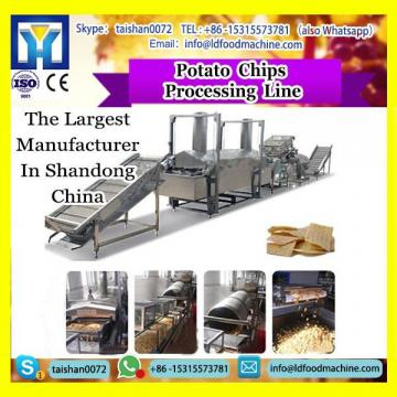 Automatic 100-300kgh Potato Chips Line fresh potato chips make machinery for sale