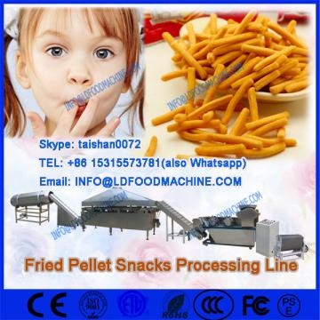 Extruded pellet frying  make machinerys for screw /shell/chips