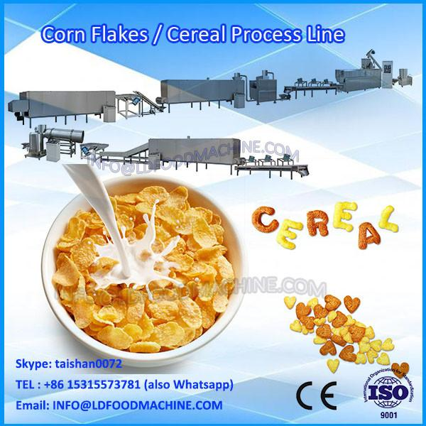 2014 Hot Sale 200-500kg Kellogg Roasted Breakfast Cereal Corn Flakes  Extruder machinery Production #1 image