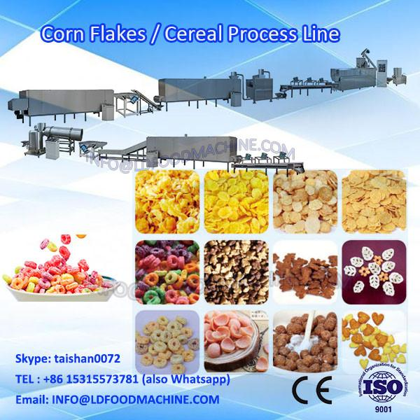 fully automatic stainless steel Corn Flake/Breakfast Cereal/Puffed Corn Flour Snack make machinery #1 image