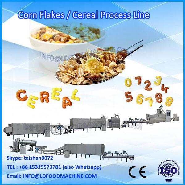 LD Automatic choco flavoured corn flakes extruder corn flakes and breakfast cereal manufacturing line #1 image