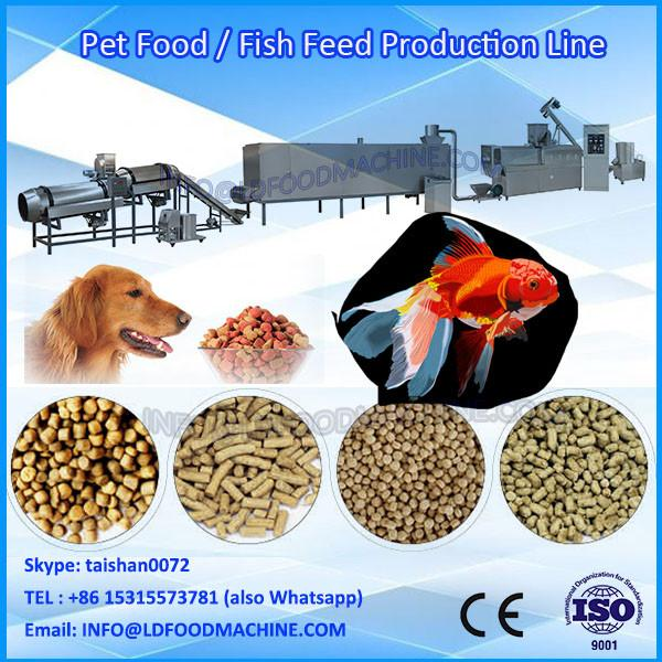 stainless steel double-screw pet food extruder,dog food machinery,pet food production line #1 image
