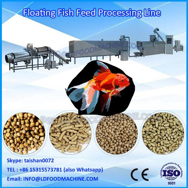 Jinan LD LDH-90 floating & sinLD fish feed pellets machinery puffed animal feed  extruder #1 image