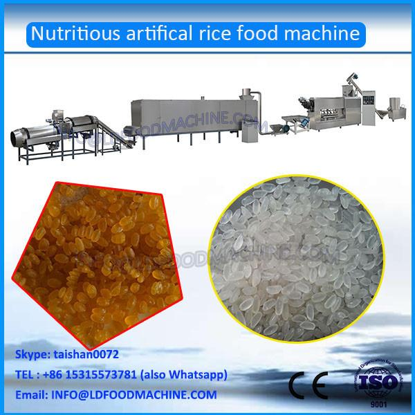 Hot Sale automatic Instant Extruded Nutrition Artificial Rice Extruder machinery process line #1 image