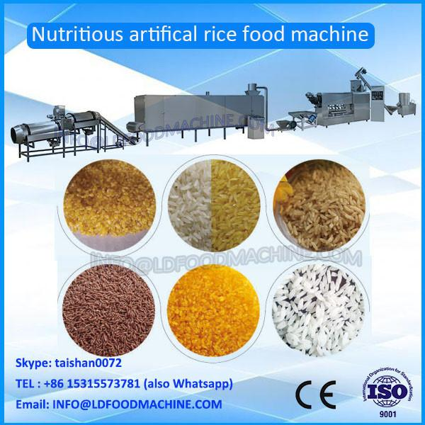 Hot sale fully automatic inflated nutrition artificial rice processing line #1 image