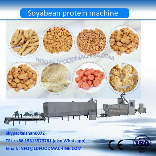 soya snacks maker ,soybean protein food machinery , soya chunks machinery by chinese earliest machinery supplier #1 image