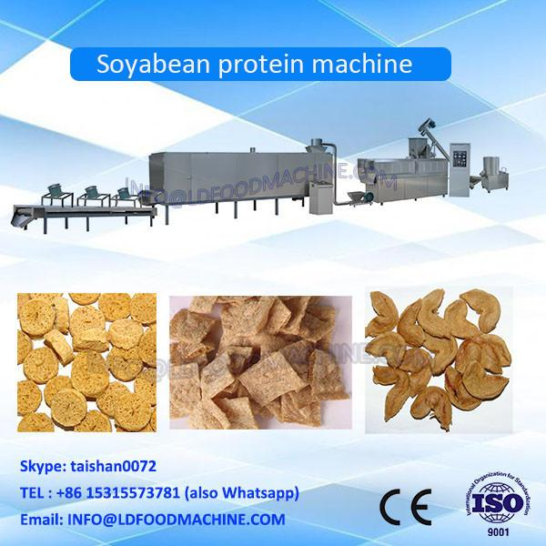 screw extruder textured soya protein / soy meat / soya nuggets forming machinery #1 image
