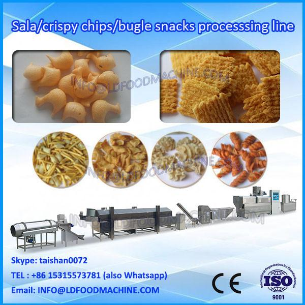 Twin screw extruder fried wheat flour chips snacks food machinery production plant #1 image