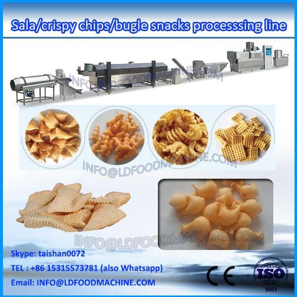extruded fried  3D flour bugles snack make machinery #1 image