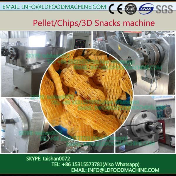 Best quality low price output 150 to 220kg per h Single screw extruder thin rice cakes 2D 3D snack production line #1 image
