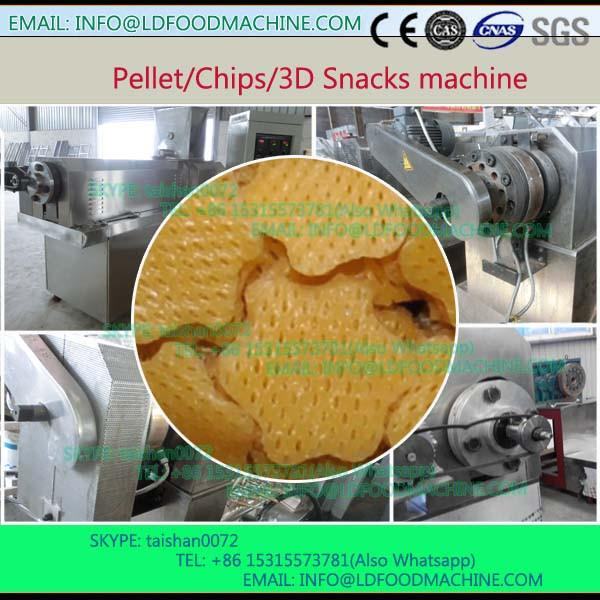 small Fried 3D Papad pellet Snacks food make extruder machinery price #1 image