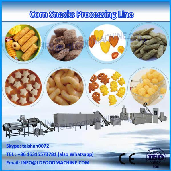 Hot sale extruded puff corn snacks extruder machinery, pellet snack machinery,  processing line #1 image