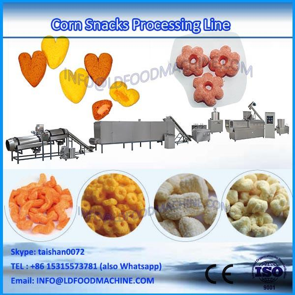 Shandong Automatic Small Breakfast Cereal Production Line Puff  make Extruder Corn Flakes  machinery Price #1 image