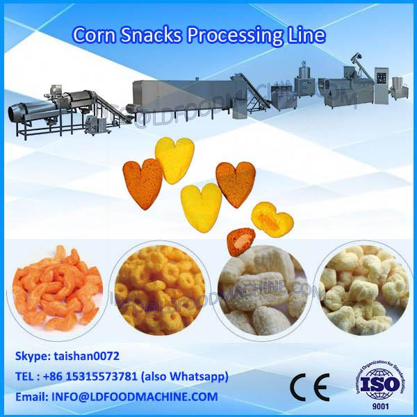 Fully automatic hot sale corn ball snack process line puffed corn stick extruder #1 image